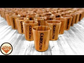 Pallet Wood Shot Glasses (100 of them!) - YouTube