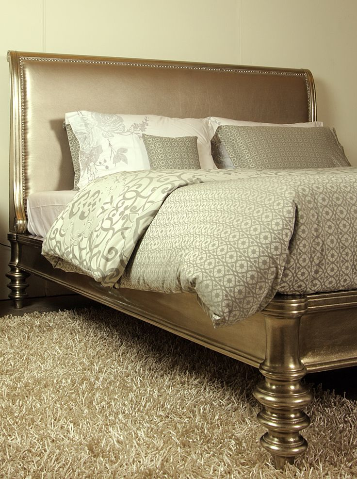 Silver Leaf Sleigh Bed The Luxurious Sleigh Bed Features