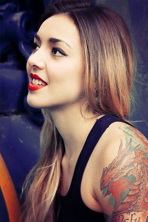 tattoos,girl,ombre,beautiful,red