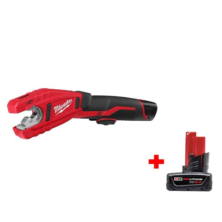Milwaukee M12 12-Volt Lithium-Ion Cordless Copper Tubing Cutter Kit with 6.0Ah Battery
