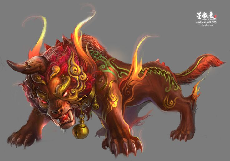 Nian (Chinese) - A dangerous breed of Unicorn, these Lion-like beasts are surrounded by myths and legends and are feared above all other evil Unicorn breeds.