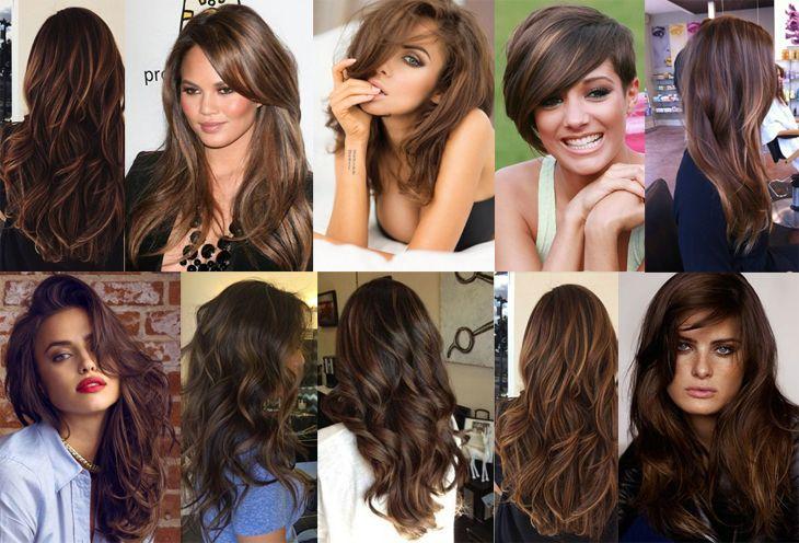 Inspirações de cabelos castanho médio