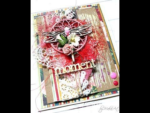 Mixed media birthday card with a dragonfly... YouTube