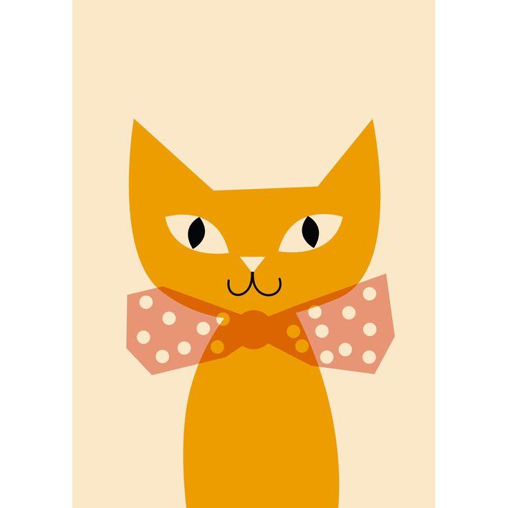 L'affiche Chat au noeud papillon est idéale en décoration dans la chambre de votre enfant. C'est un cadeau de naissance original.