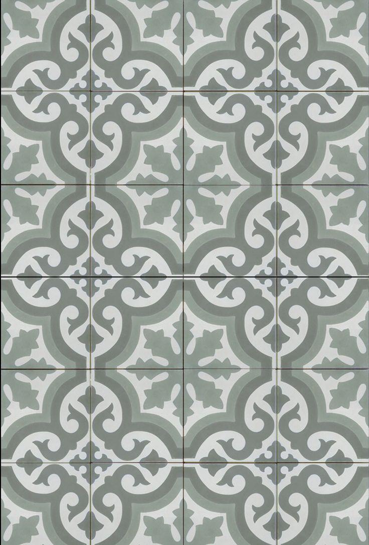 Mudroom floor tiles.