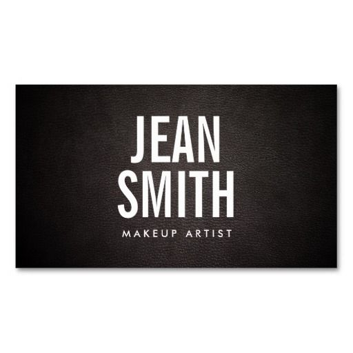228 best makeup artist business cards images on pinterest makeup bold text dark leather makeup artist business card colourmoves