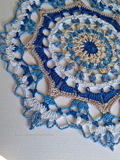 Serenity #Mandala by @creacionesusana #free #crochet pattern