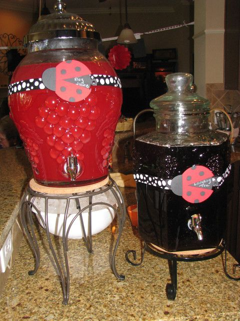 Drinks at a Ladybug Party #ladybug #partydrinks