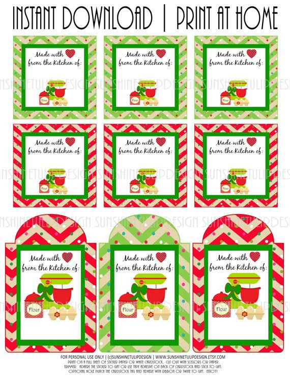 13 best printables images on pinterest craft free printables baked goods christmas diy printable stickers tags and labels by sunshinetulipdesign negle Gallery