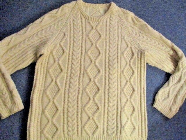 Beautiful hand knitted aran jumper wool Size Large | Clothes, Shoes & Accessories, Women's Clothing, Jumpers & Cardigans | eBay!