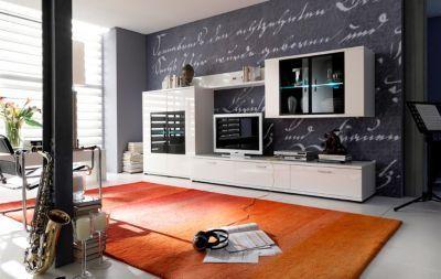 Wohnwand weiss hochglanz/ schwarz Jetzt bestellen unter: https://moebel.ladendirekt.de/wohnzimmer/schraenke/wohnwaende/?uid=108e8ec9-1ff1-5f7f-9b4b-cfbb3db1f33d&utm_source=pinterest&utm_medium=pin&utm_campaign=boards #schraenke #wohnzimmer #wohnwaende