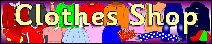 Clothes shop role-play pack (SB371) - SparkleBox