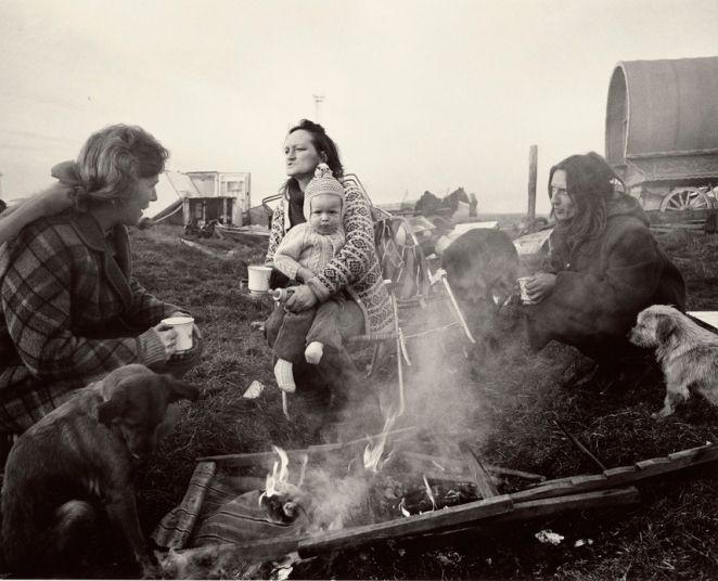"""Chris Killip Margaret, Rosie, and Val, Seacoal Camp, Lynemouth, Northumberland, 1983"""