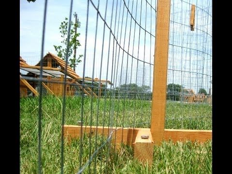 Portable Posts for Chicken Yard/Garden -  nice, simple and elegant system to moveable fencing