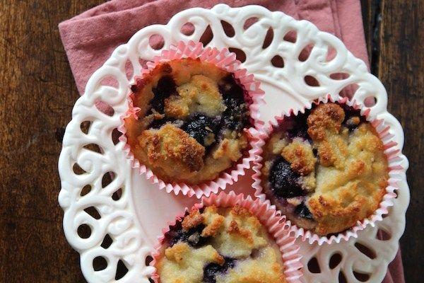 Gezonde bosbes muffins