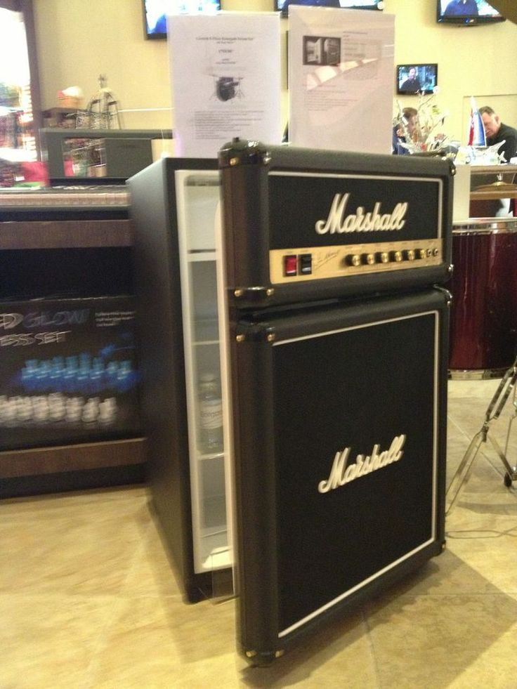 Small Refrigerator For Man Cave : Marshall amp mini fridge gift ideas for music lovers