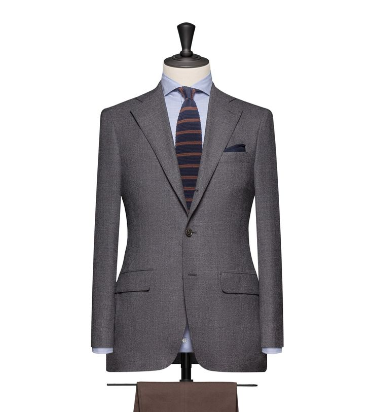 This cloth is a Dark Grey Hopsack. Cloth Weight: 305g Composition:100% Wool