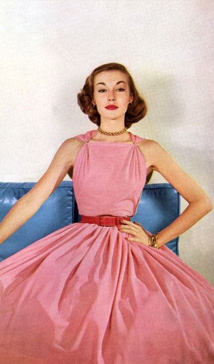 Liz Pringle in Claire McCardell 1952