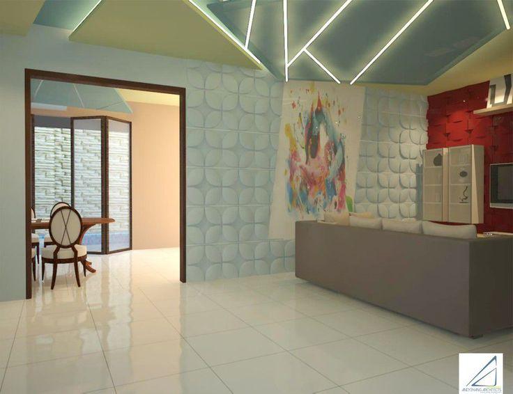 Contemporary | Living Room | Escape Villa | Bogor | Andy Zhang Architects