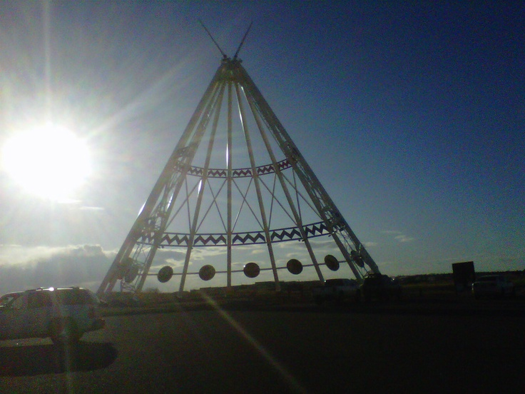 Millie travelled to Medicine Hat, Alberta, to see the Worlds Largest Tee Pee. It has great story boards  on the inside, pretty awesome!