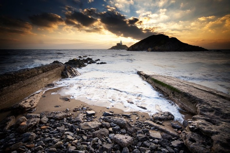 A dramatic view of the Mumbles, Swansea - another spectacular place to visit on the Wales Coastal Path