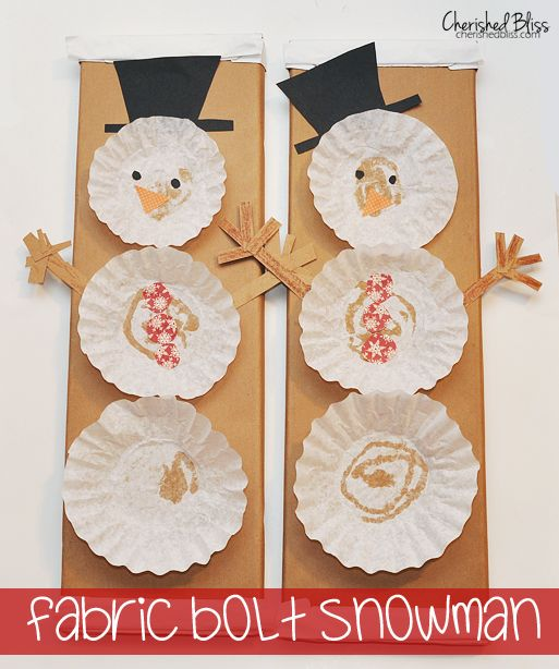 DIY Coffee Filter Snowman - A fun Craft for kids via cherishedblsis.com