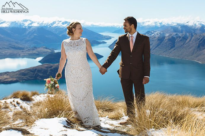 Mountain wedding ceremony, Wanaka Wedding, Snow Wedding