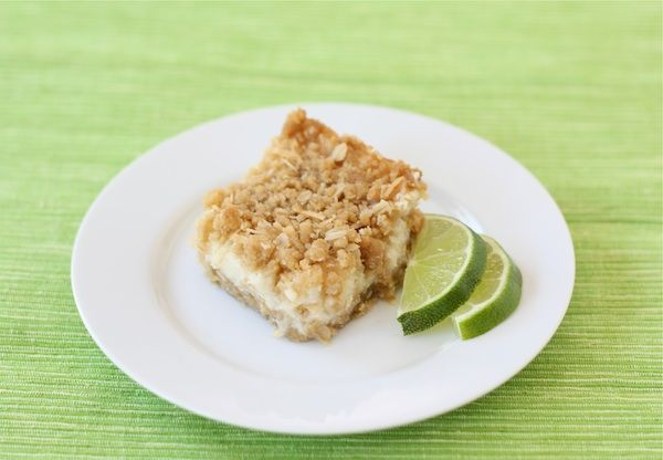 Lime and Coconut Crumble Bars (Two Peas and Their Pod) #lime #coconut #bars