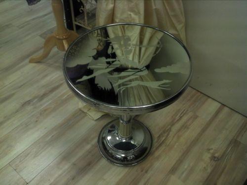 """ Diana The Huntress "" Art Deco Chrome&Cream bakerlite wine/sidetable"
