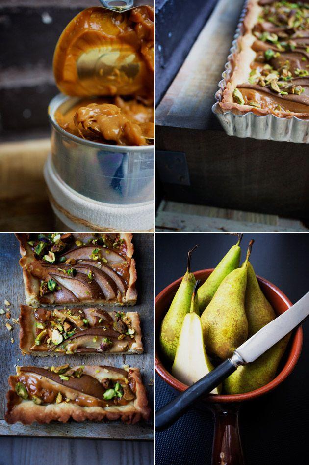 yummy pear and caramel-tart