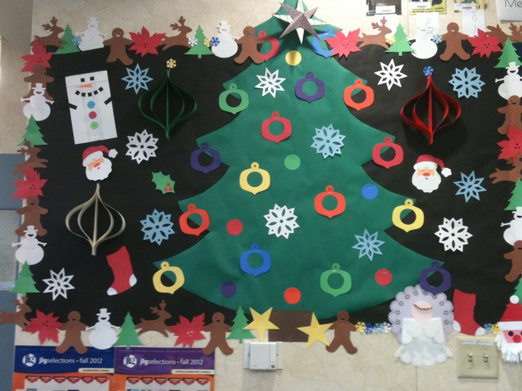 Awesome Christmas Bulletin Board For Library.