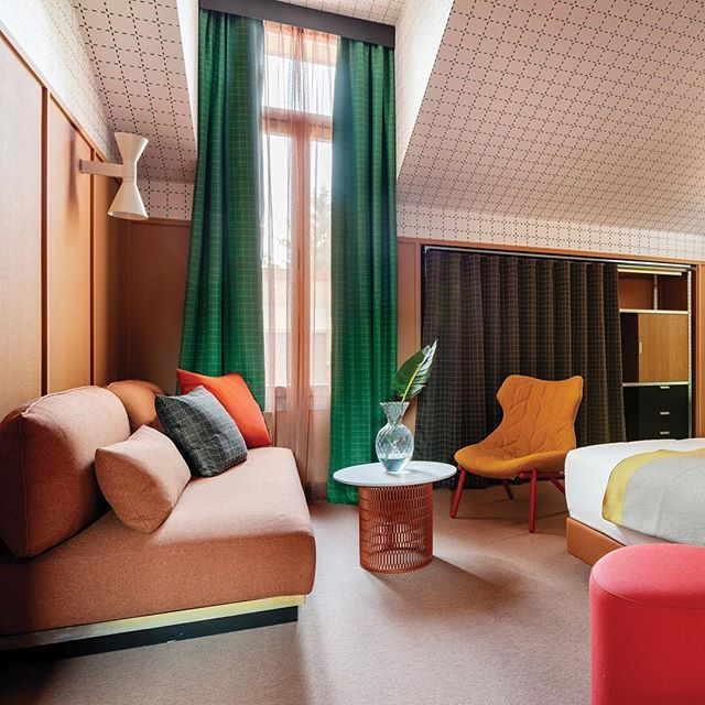 'Each time a door opens it's a surprise,' says #designer Patricia Urquiola about Room Mate Giulia, her new hotel in #Milan – featured in our latest issue #icon158 #design #milano #hotel #patriciaurquiola @roommatehotels @patricia_urquiola