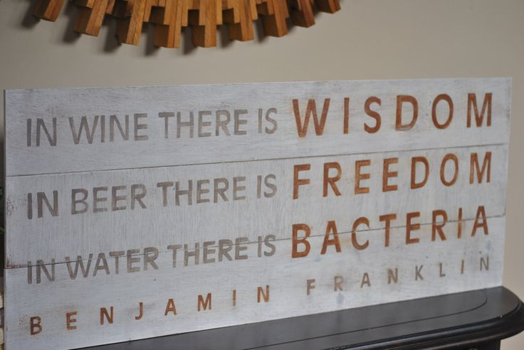 Bar+Sign++Benjamin+Franklin+Quote++Home+Decor+by+talkischic,+$45.00