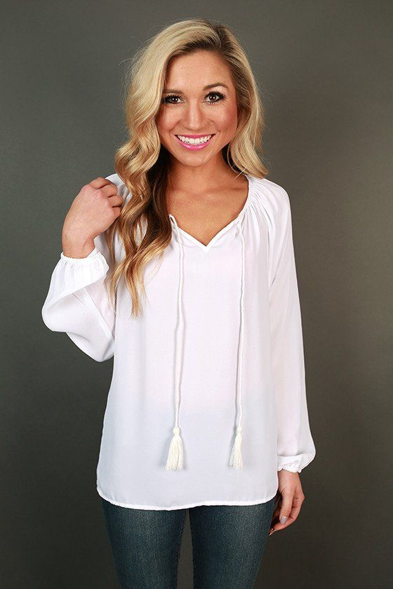 The Sophia Top in White