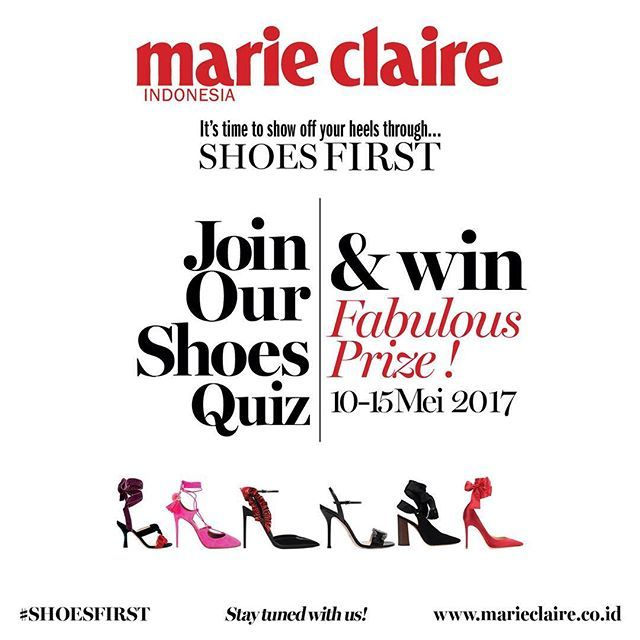 Hi ladies! Good news Anda masih bisa meng-upload foto OOTD untuk memenangkan hadiah dalam kompetisi #shoesfirst ! Kami tunggu fotonya sampai malam ini yaa! 1. Follow @marieclaireindonesia 2. Post foto OOTD Anda dengan sepatu favorit. 3. Mention dan tag @marieclaireindonesia dan gunakan #shoesfirst Let's post NOW! #shoesfirst #contest #shoes #glam #sneakers #ankleboots #marieclaire #marieclaireindonesia #giveaway #berhadiah #fashion #contests  via MARIE CLAIRE INDONESIA MAGAZINE OFFICIAL…