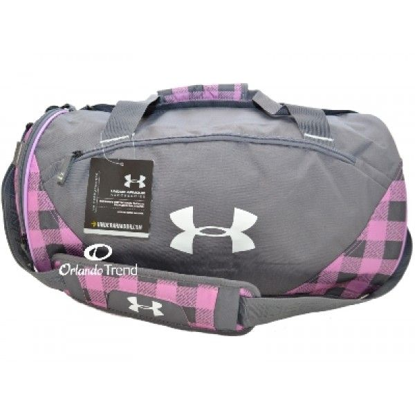 Under armour rage duffel bag in gray and pink underarmour for Gimnasio ua