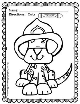 Fire Safety Coloring Pages Dollar Deal 17 Pages Of Fire Safety