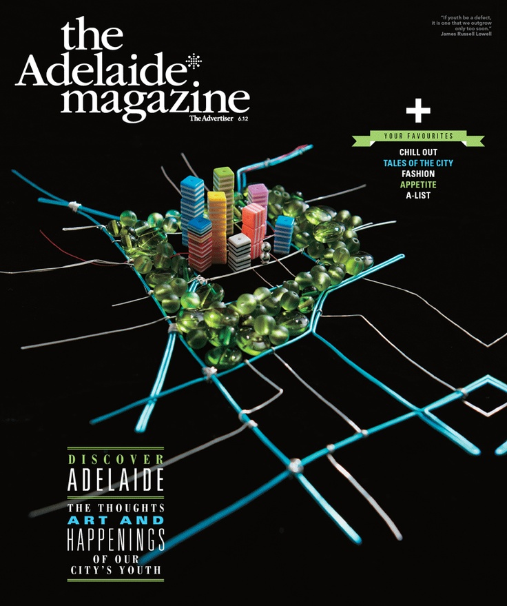 """The Adelaide* magazine Youth Issue design comp winner: Ashley Playfair. """"I have just started a business in Unley called Ladybeads. We are a bead shop, art gallery and studio workshop. It has always been my dream to work in and support the local arts, so this business is my way of doing this."""""""
