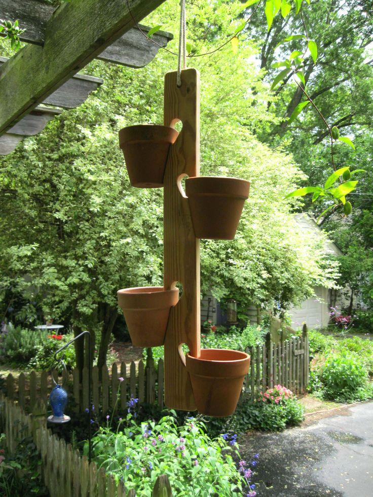 11 best flower pot ideas images on pinterest gardening for Wooden plant pot ideas