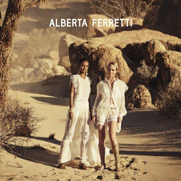 Amber Valletta, Liya Kebede / S/S 2016 Alberta Ferretti / Peter Lindbergh