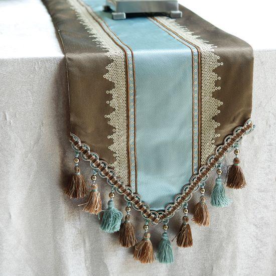 梵廊朵 简约现代 茶几餐桌 欧式桌旗 尺寸可定做 桌旗 台巾 兰咖-淘宝网