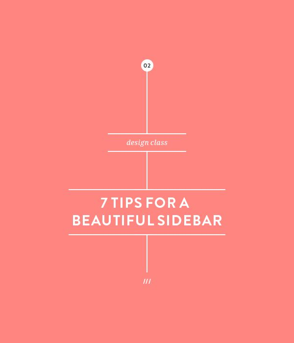 7 tips for a beautiful sidebar design