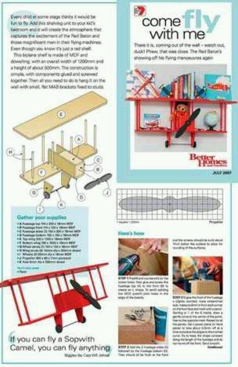Biplane shelf
