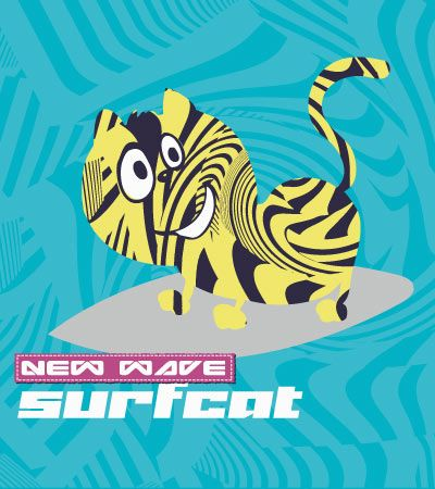 Surf-cat-childrens-s-clothing-illustrations