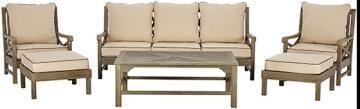 Martha Stewart Living™ Blue Hill 6-Piece Outdoor Deep Seating Set - Patio Conversation Set - Outdoor Patio Furniture - Patio Set | HomeDecorators.com