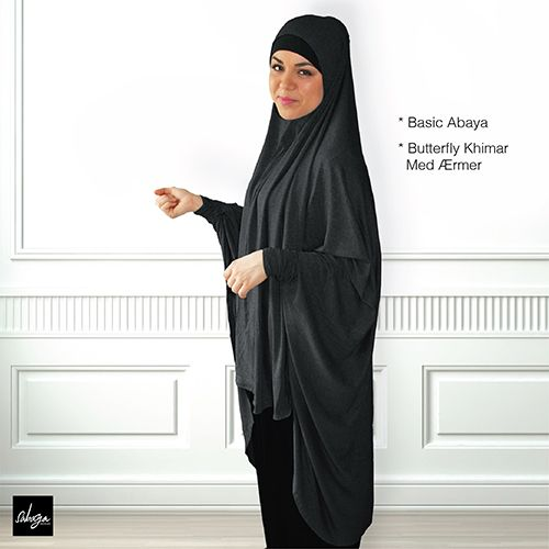 Basic Abaya & butterfly Khimar
