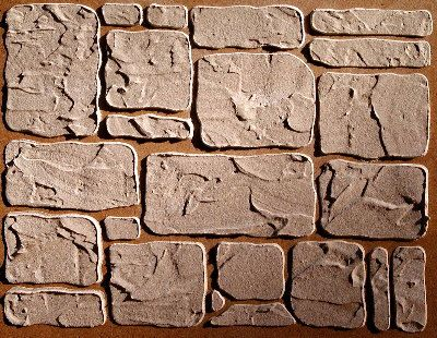 Easy to repeat! Turn your walls in to very realistic, rustic stone with this Cottage stone stencil.    Pre-tinting the compound (click the link