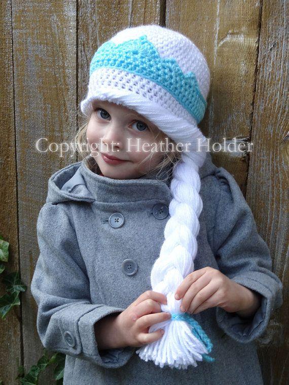 Elsa of Arendelle Frozen Crocheted Hat Pattern by HHCrafts