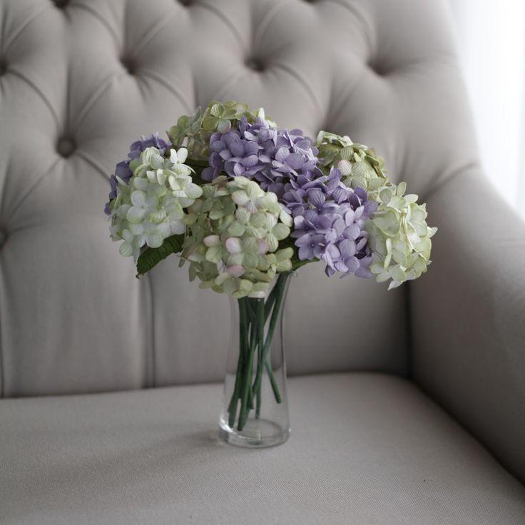 Mini Paper Flower Decoration Purple Green   Posie Flowers