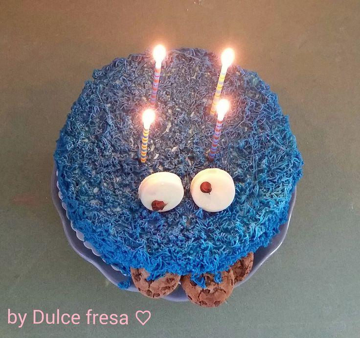 Dulce fresa: Cookie monster verjaardagstaart